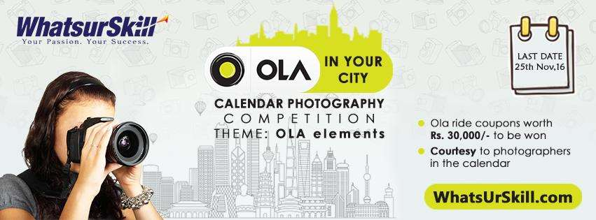 Calendar Photography Jobs : Quot ola in your city calendar photography competition
